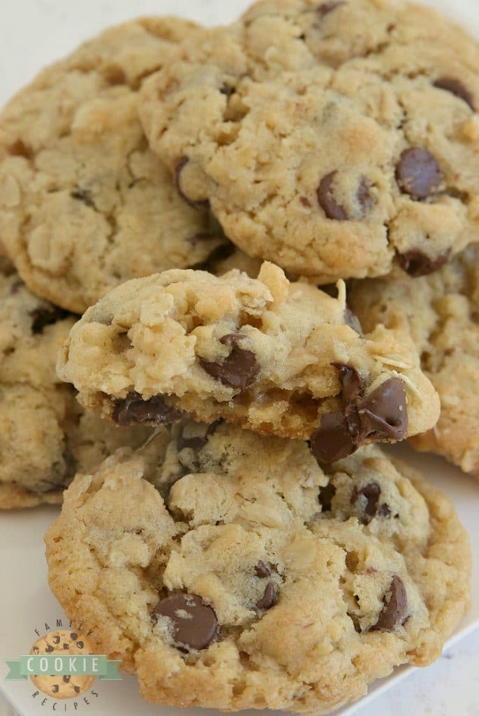 Rice Krispie Chocolate Chip Cookies are soft, chewy and have a little extra crunch! Adding rice krispie cereal to chocolate chip cookies is such a good idea - you'll never want to eat them without that extra addition again!