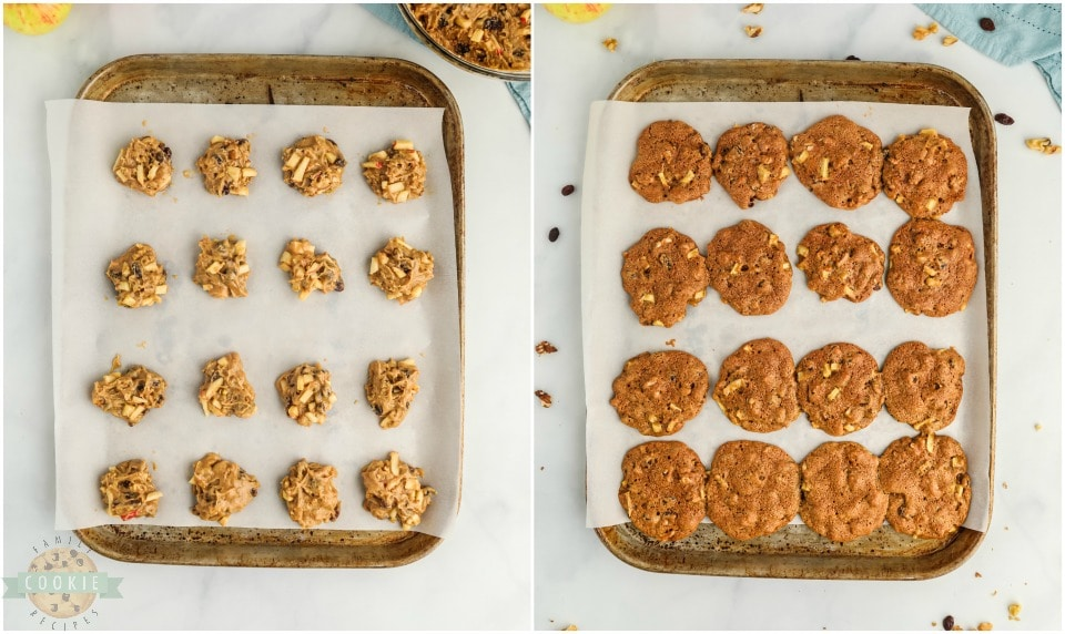 how to make Easy Cinnamon Spiced Apple Cookies recipe