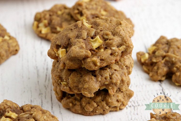 Pumpkin Cookies with chopped fresh apples