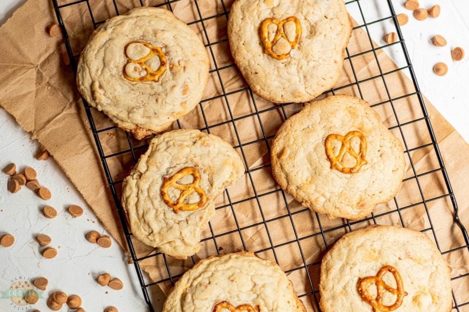 Salted Butterscotch Pretzel Cookies recipe
