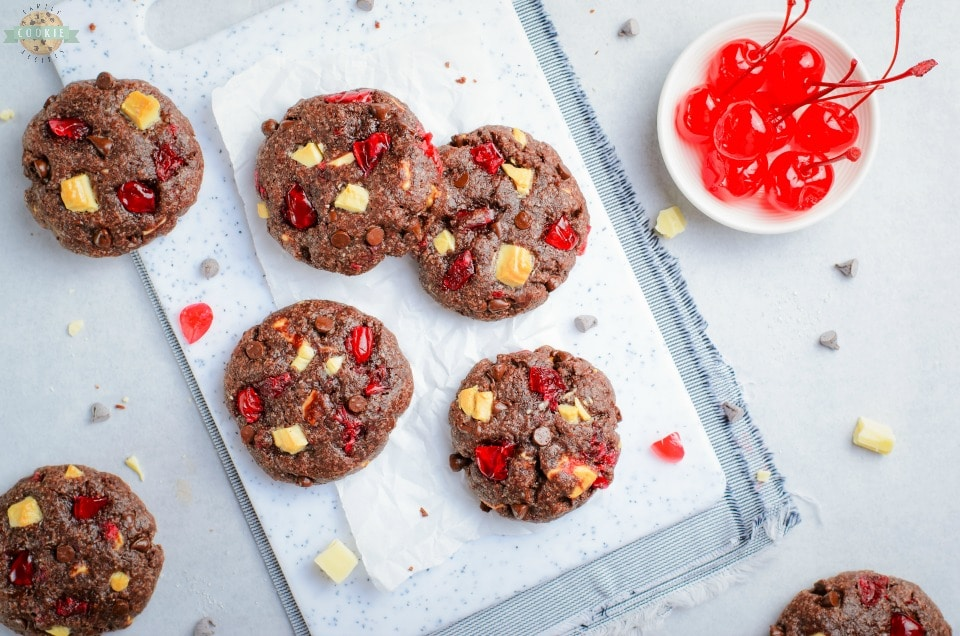 Triple Chocolate Cherry Cookies