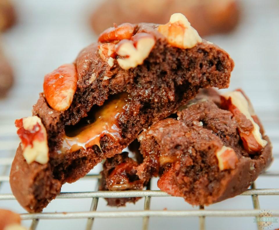 Chocolate Turtle Cookies recipe