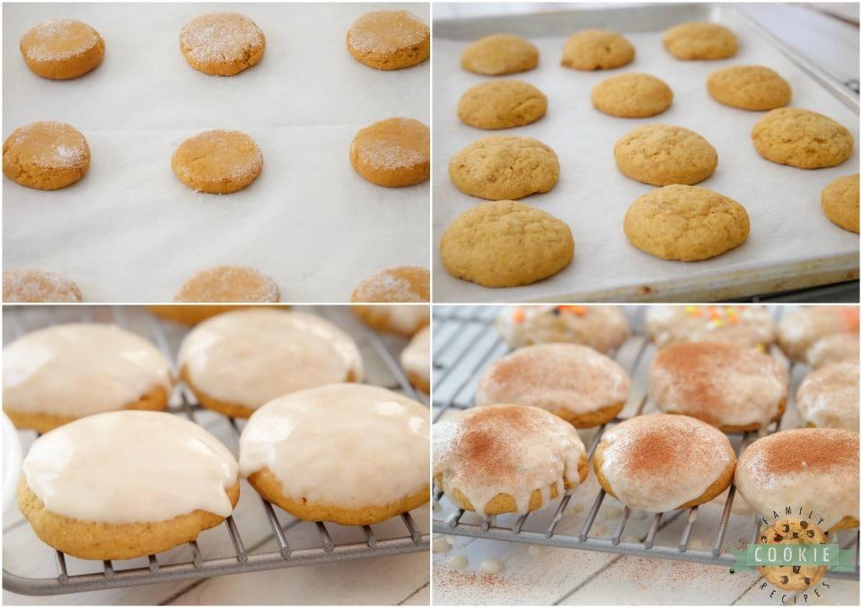 how to make iced Cinnamon Pumpkin Cookies recipe