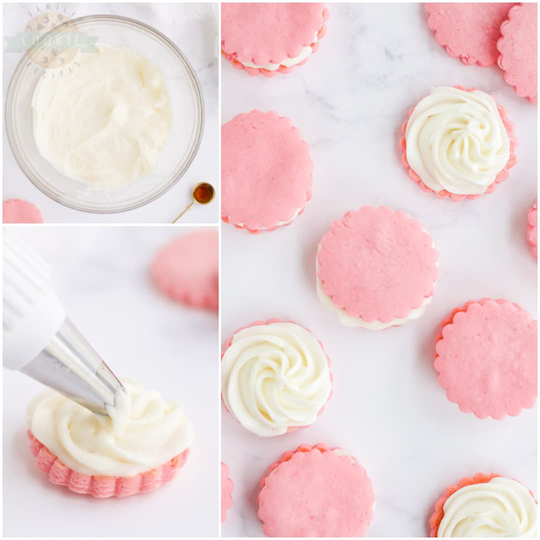 how to make Pink Sandwich Cookie recipe
