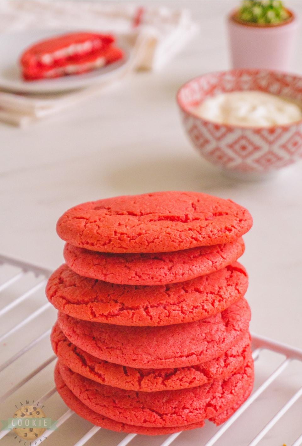 Cream Cheese Red Velvet Cookie recipe