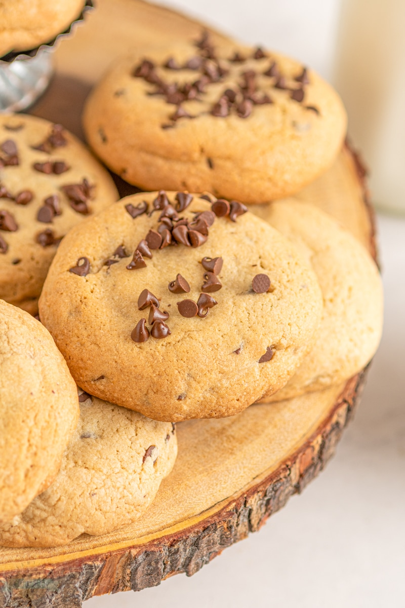 big fat chocolate chip cookies with Reese's cups inside