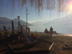 Locarno // Ascona - playground with structures for small and big kids. Nautical theme