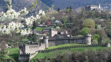 Castello Montebello and Sasso Corbaro (in far back)