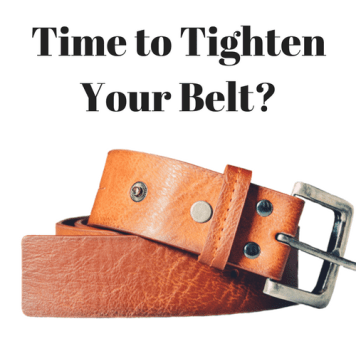 tighten belt