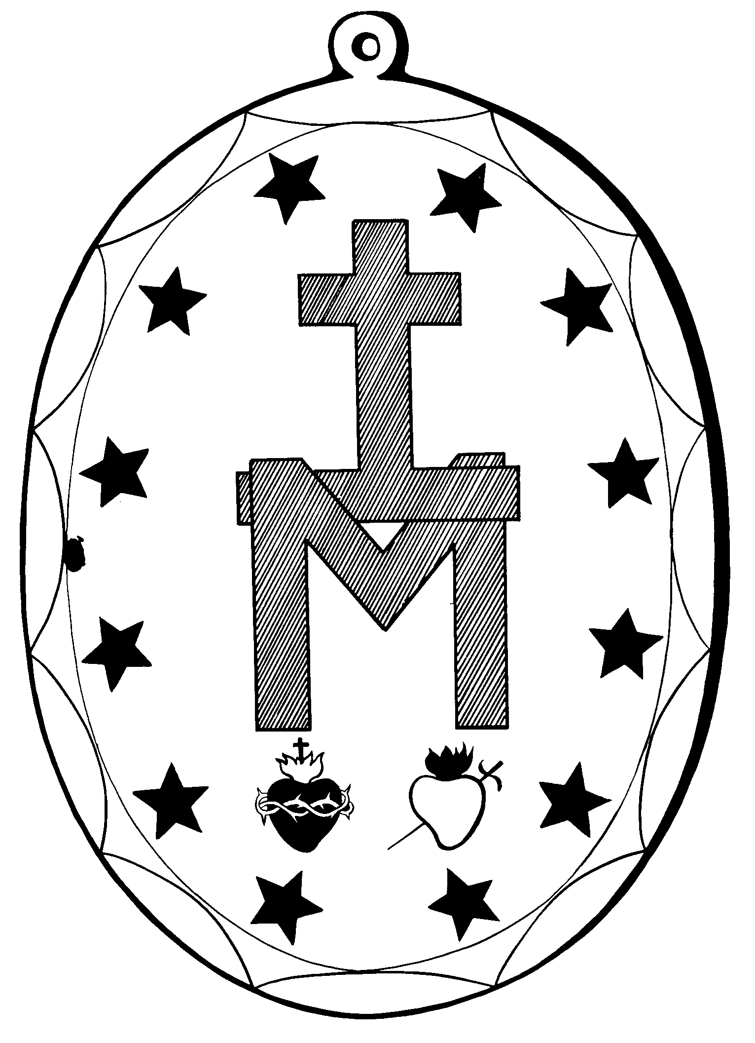 miraculousmedalback miraculous medal coloring pages