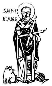 St. Blaise by Ade Bethune