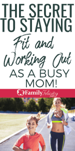 Staying fit and active is hard when you've got little ones with you all the time. These easy tips will help you get on a consistent exercise routine! #kdisandparenting #parenting #momlife #fitness #healthy