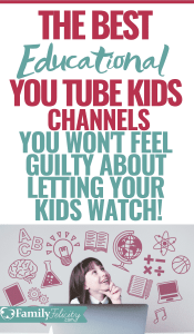 These education and fun YouTube Kids channels are perfect to get your kids learning new things about science, math, and other cool stuff. Plus, you won't feel guilty about the extra screen time! #parenting #screentime #kidsandparenting