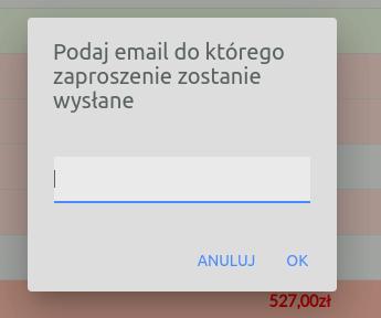 adres email do współdzielenia