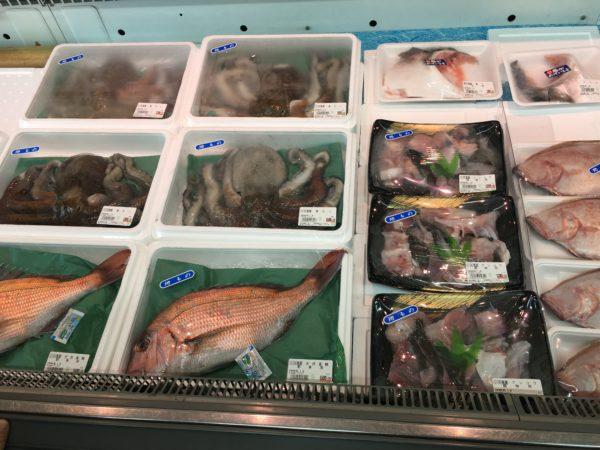 フィッシャーマンズワーフの充実した鮮魚コーナー