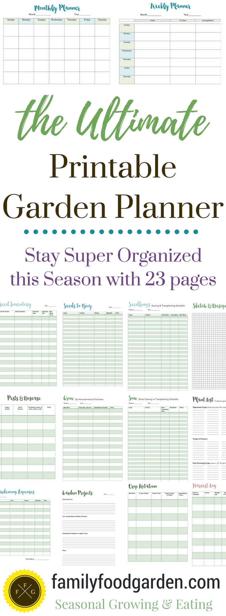 Ultimate Printable Garden Planner on Patio Planner id=95383