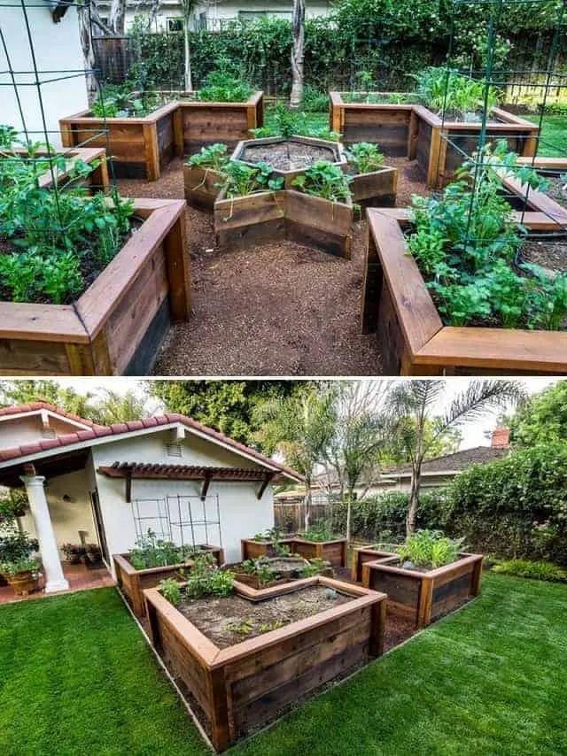 Raised Garden Bed Ideas & Tutorials on Backyard Raised Garden Bed Ideas id=33872