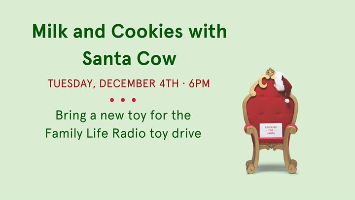 Milk Cookies With Santa Cow Family Friendly Calendar