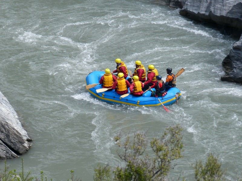 White water rafting Queenstown, New Zealand