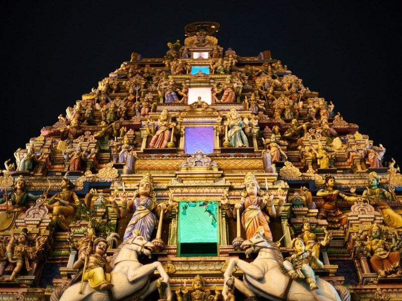Hindu Temple Sculptures Little India Kuala Lumpur