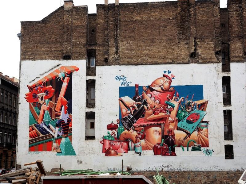 Gastronomy themed Street art Budapest