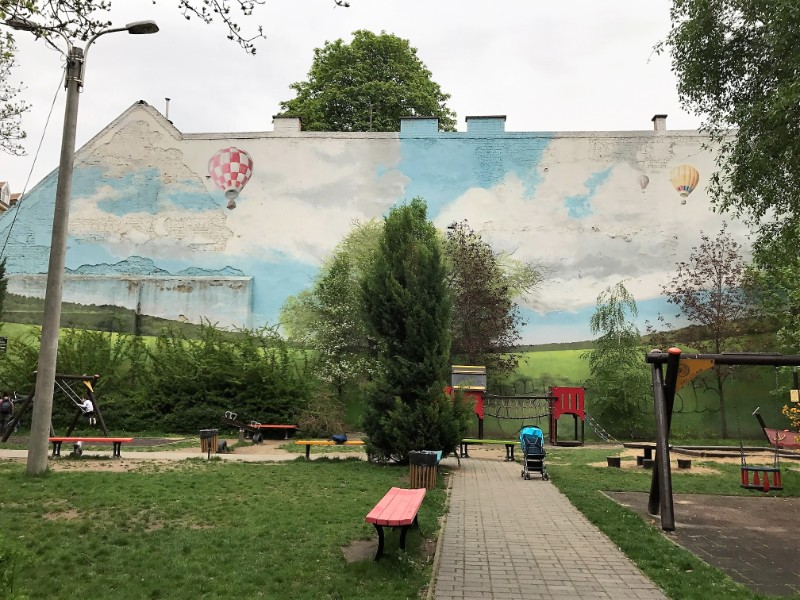 Playground Street art mural Budapest