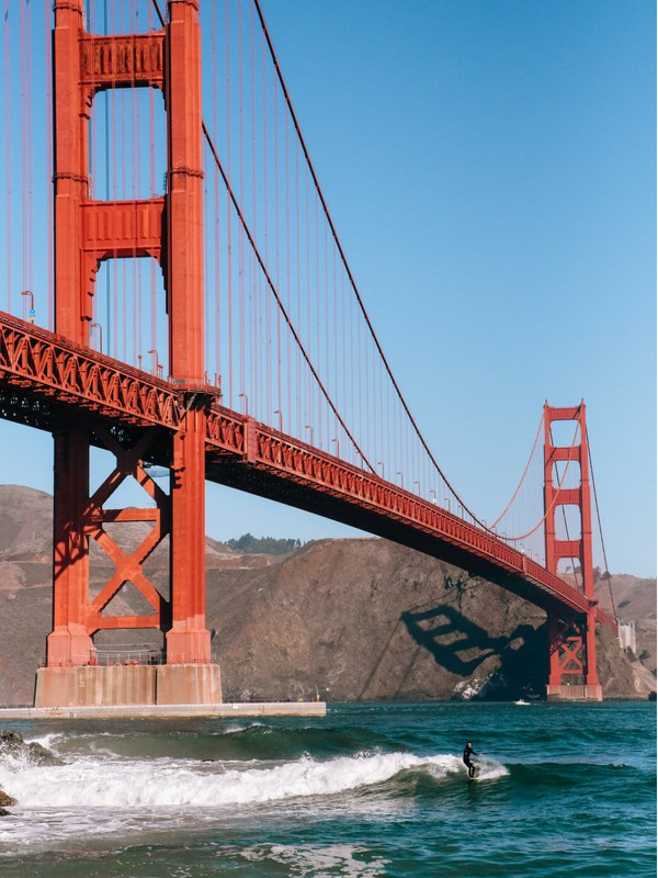 California Road Trip Itinerary Golden Gate Bridge