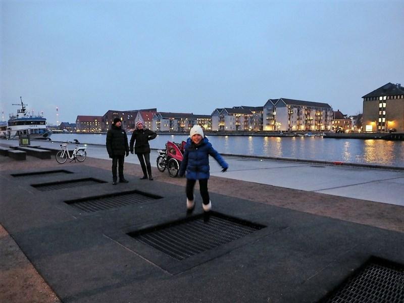 Copenhagen on a Cargo Bike Outdoor Trampoline