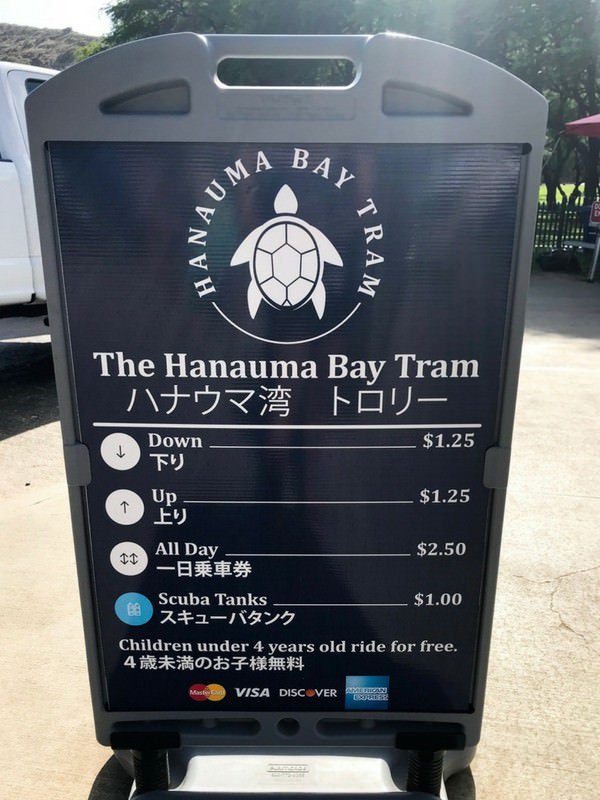 Hanauma Bay Tram Prices