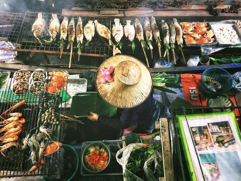 Asian market seafood fish