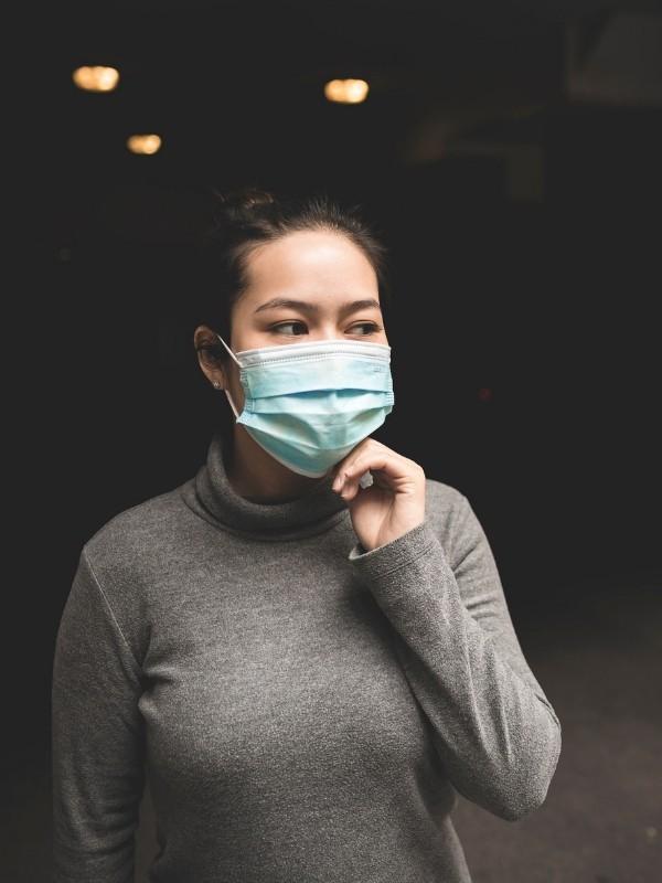 Asian woman face mask