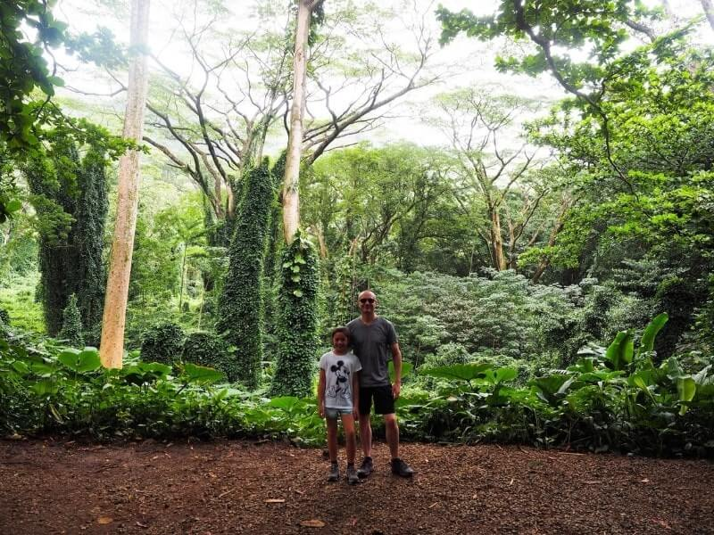 Manoa Falls Forest Father and daughter