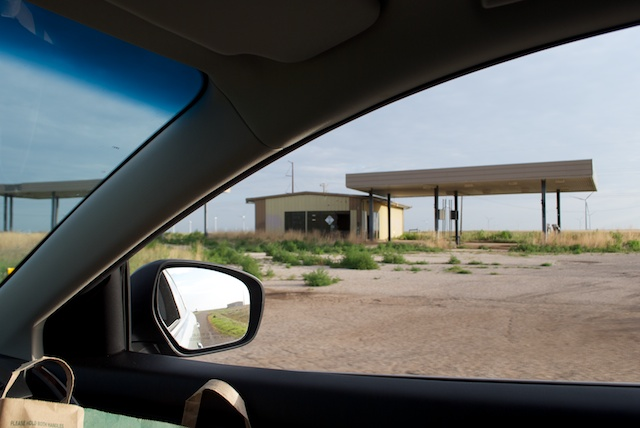 There are lots of abandoned property along the way. This one, on Route 66 in Texas