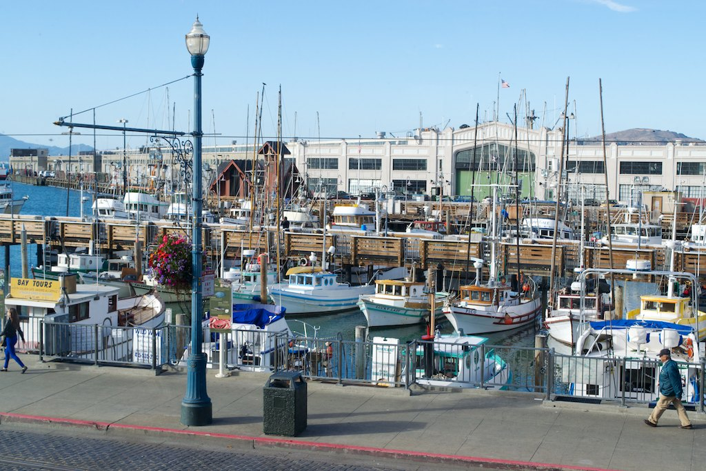 The Fisherman's Wharf, as seen from the restaurant.