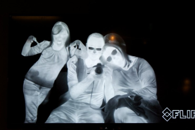 Raquel, Adriana and I trying  the infrared camera.