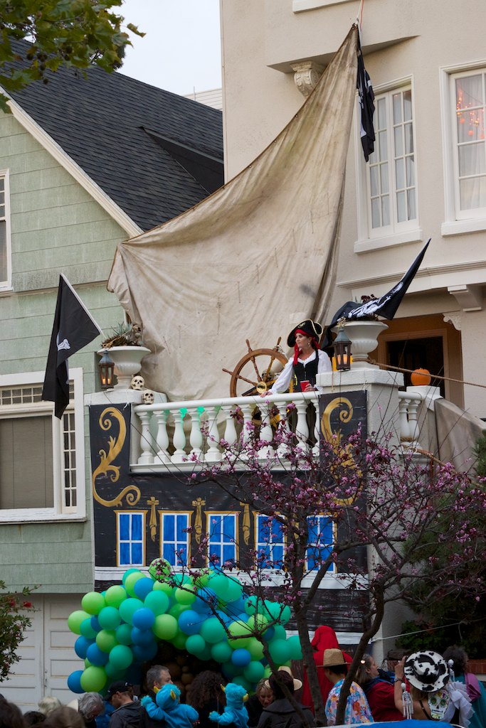 This one was fully converted to a pirate ship