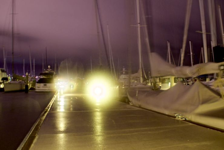 This is the best image I could capture of how the marina looked like in the middle of the gale - i was pressing the camera hard against a bench to avoid it from flying away with the wind !