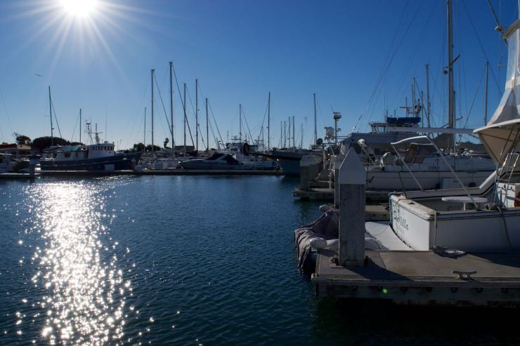 The super calm waters of Ventura Harbor, which we fell in love with.