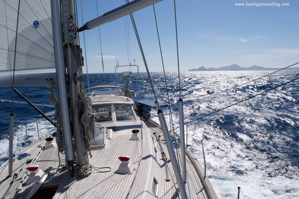 Pesto sailing boldly, some 5 miles after rounding the Cape, en route to San Jose del Cabo. It was one great passage !