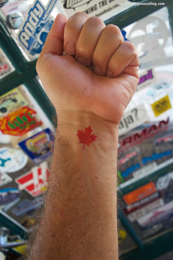 One of the days there (July 1st) was Canada Day, and we celebrated in style