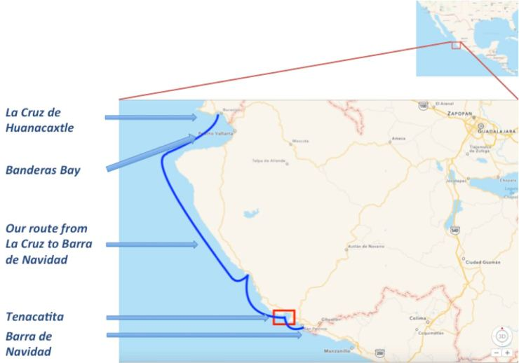 Map - La Cruz to Barra