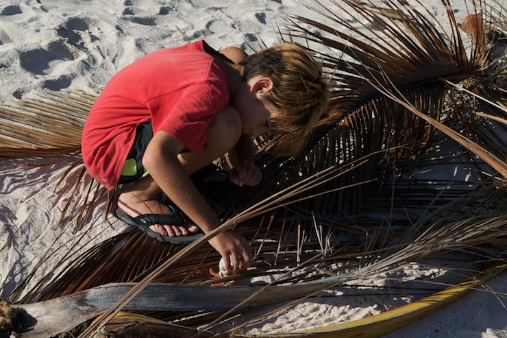 Raquel was given ownership of the camera. Here, she captured Noah (sv enough) setting up the fire