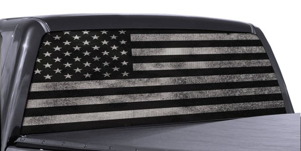 FGD Back white perforated rear window decal