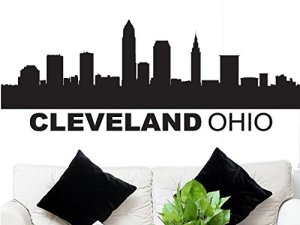 Cleveland Skyline Wall Decal
