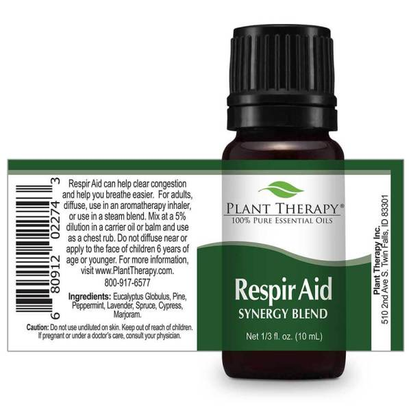 The soothing, cooling essential oils in Plant Therapy's Respir Aid synergy blend are helpful in clearing congestion and allowing you to breathe easier. #breathe #allergies #coldandflu ... Visit TheFamilyApothecary.com for more great natural remedies to support your healthy lifestyle.