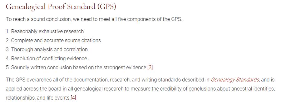 "Board for Certification of Genealogists' ""Genealogical Proof Standard"""