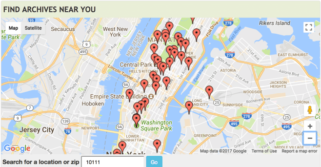 Map of New York City on ArchiveGrid