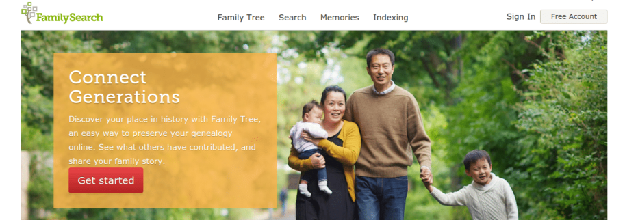 FamilySearch - 6 Best Family Tree Software Programs