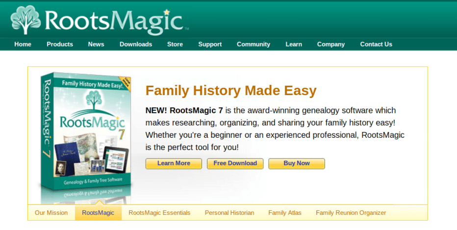RootsMagic - 6 Best Family Tree Software Programs