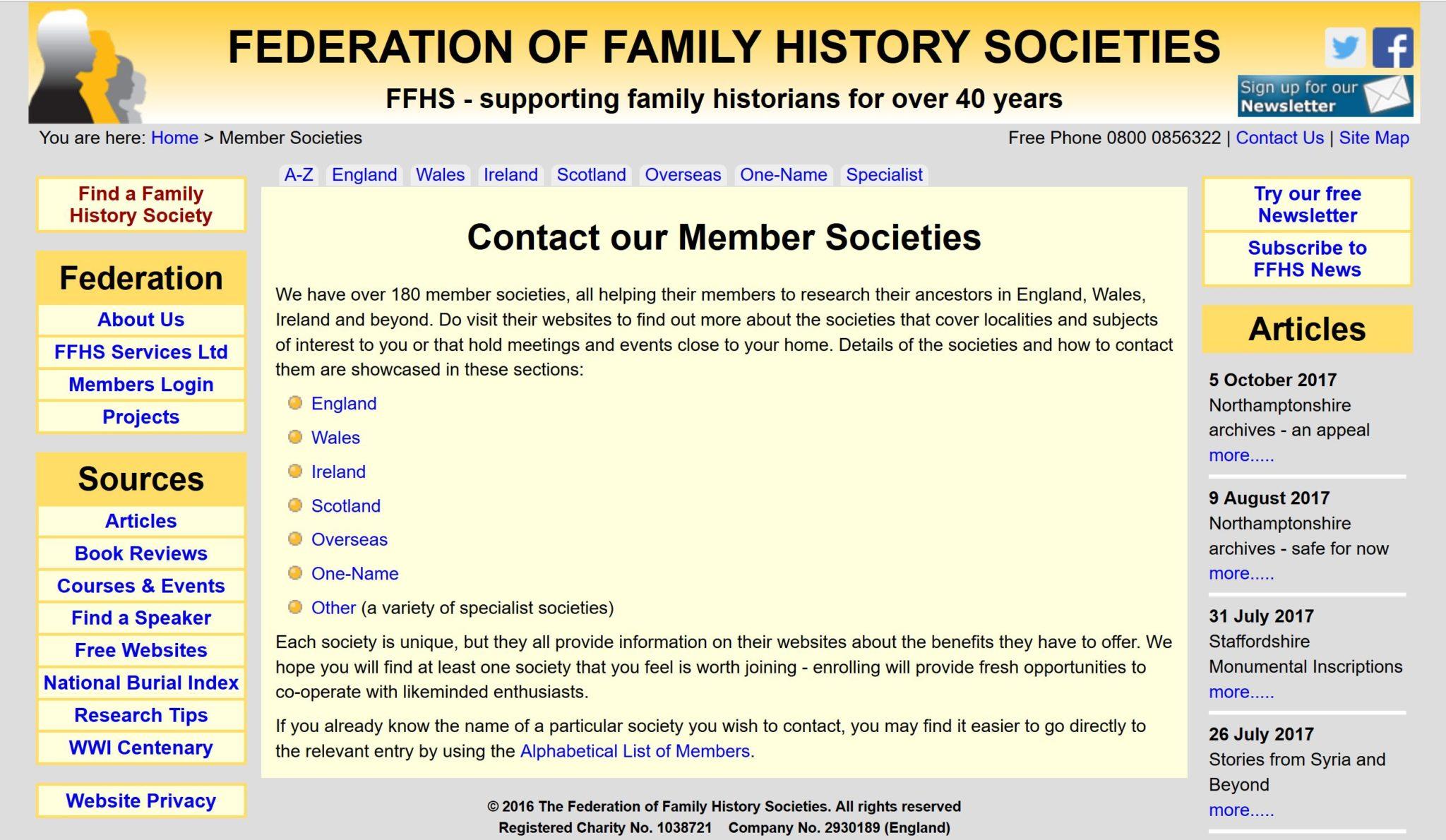 British, Irish, Scottish, Welsh Genealogy Research Guide, Federation of Family History Societies